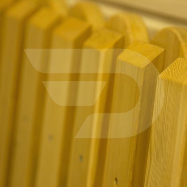 20x1000x2000 Műszárított ívelt végű Vörösfenyő Gyalult Kerítés panel Deszka AB
