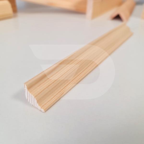 20x20x2200 Barkácsléc csomómentes díszmart (háromszög)