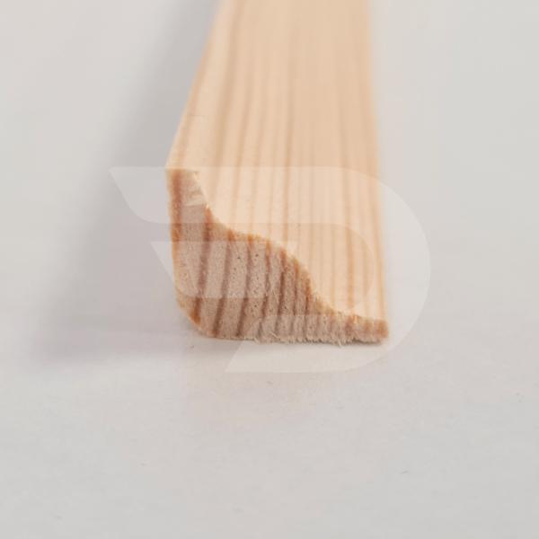 15x15x2200 Barkácsléc csomómentes díszmart (háromszög)