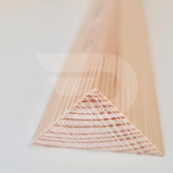 25x25x2000 Barkácsléc csomómentes (háromszög)